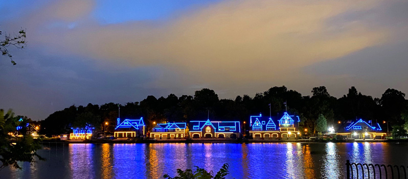 Boathouse Row in Blue and Gold
